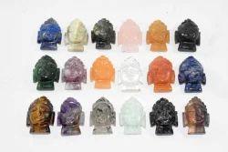 Multicolor Unisex Gemstone Buddha, Size: .75 To 3 Inch