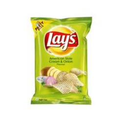 Lays American Style Cream And Onion Chips, Packaging: Packet