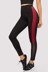Aesthetic Apparels Straight Fit Ladies Polyester Legging