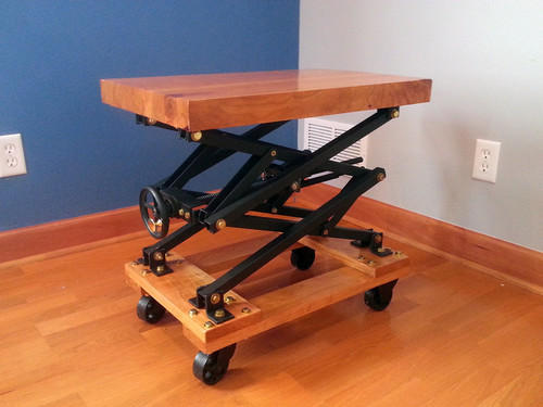 Wooden Scissor Lift Table