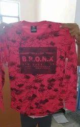 Men Printed Red Cotton T-Shirt