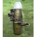 Diya Shape Water Falling Lamp Post