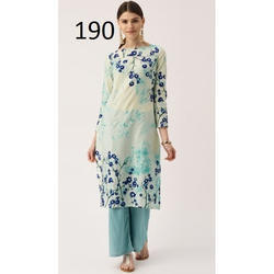 Floral Print Party Wear Kurti