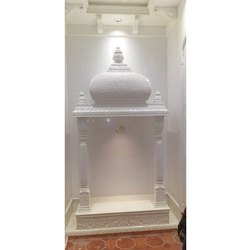 White Marble Temple, For Home, Size: 3 Feet