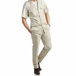 Off White Plain Safari Suit