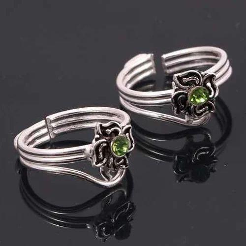 Designer Toe Rings | Silver Designer Toe Ring Rs 50 Gram Pp Exports Id 19528840533
