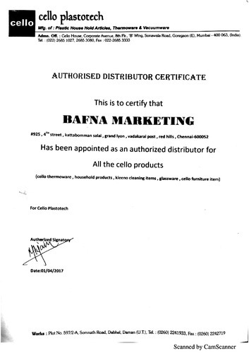 Bafna Marketing - Distributor / Channel Partner from Redhills