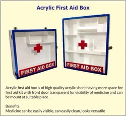 Acrylic First Aid Box for Industrial