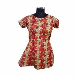 Cotton Half Sleeves Printed Ladies Tops