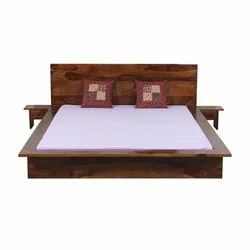 Stylish Wooden Double Bed, Without Storage