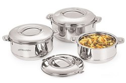 STAINLESS HOT POT, For Home, Capacity: 1500 Ml