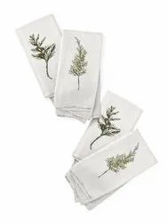 Winter Greens Napkins  Botanical Cotton Napkins Set of 4