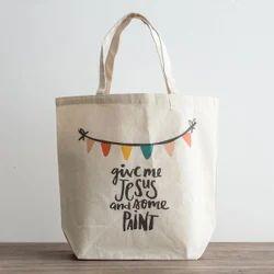 Digital Printed Canvas Shopping Bag