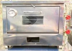 4 Modern Stainless Steel Double Tray Pizza Gas Oven