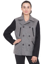 Coat Style Jacket Grey Black  - Ladies