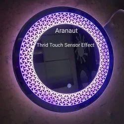 Beautiful Modern Designed LED Mirror Yellow,Blue,Deamer Lights with Sensor. (21x21) by ARANAUT2