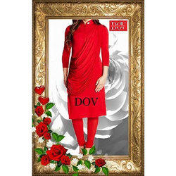 Red Wedding Wear Ladies Fancy Suit