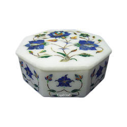 Solid Marble Inlay Box