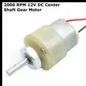 2000 RPM 12v DC Center Shaft Gear Motor