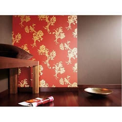 Floral PVC Wall Covering