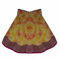 Georgette Border Lehenga Skirt