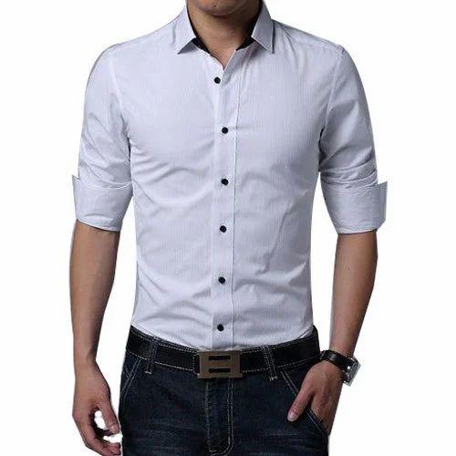 9ce414f2 Mens Plain White Shirt