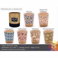 Floral Tumbler Premium Candle