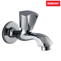 Stainless Steel Somany Acme Long Nose Bib Cock With Wall Flange For Kitchen