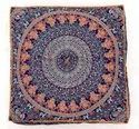 Indian Floor Pillow Cushion Covers In Mandala Design (Blue Multi)