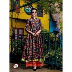 Ladies Cotton Printed Ethnic Kurti, Size: S-XL