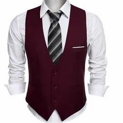 Maroon Mens Waistcoat, Packaging Type: Packet