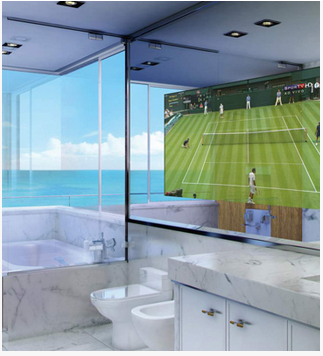 mirror tv led lcd smart tv and home theatre sight and sound rh indiamart com Television Mirror Bathroom TV in Mirror in Bathroom