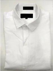 Cotton Plain White Shirt, Size: M-L-Xl