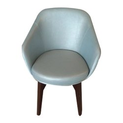 F Studio Gray Club Leather Chair