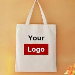 Printed Natural Reusable Promotional Cotton Bags, Size: Standard Size- 12 X 16