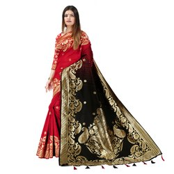 J15 Party Wear Khadi Silk Saree