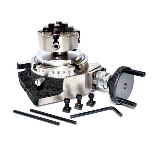 100mm Chuck{Supplied with a mounting back plate} Rotary Table HV4 /& Back Plate