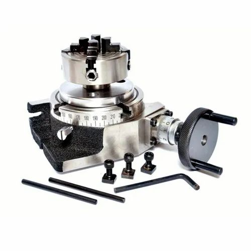 Tilting Rotary Table 4//100mm with 80 MM 3 JAW SELF Centering Chuck /& Backplate