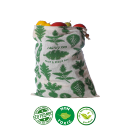 Earthy Fab Eco Friendly Cotton Multipurpose Storage Bag / Fridge Bags for Vegetables and Fruits.