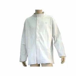 White Plain Leather Safety Jacket