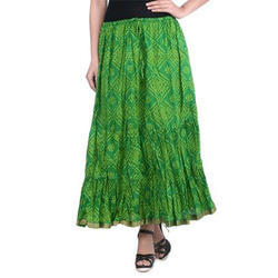Cotton Jaipuri Maxi Skirt