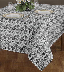 Grey Printed Table Cloth