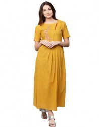 A-Line Cotton Slub Dress