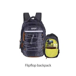 Polyester Black Safari Flip Flop Back Pack