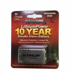 Ultralife 9V Lithium Battery, Packaging Type: Blister Card, Battery Type: Lithium-Ion
