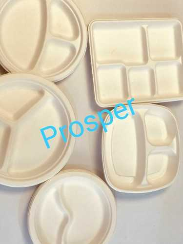 Biodegradable Bagasse 3 Compartment Tray