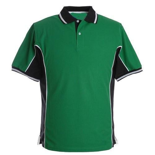 aba8cb9a Polyester Green And Black Mens Sports T-Shirt, Rs 300 /piece | ID ...