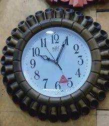 Mix Analog Round Wall Clock