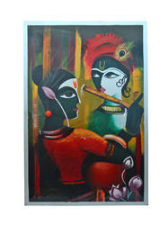 Traditional Cum Designer Touch Krishna Painting