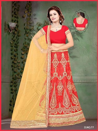 3644b772fbb13 Bridal Georgette Semi-Stitched Lehenga Choli